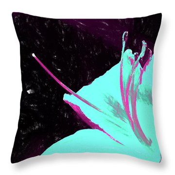 Day Lily Dual Tone  Throw Pillow
