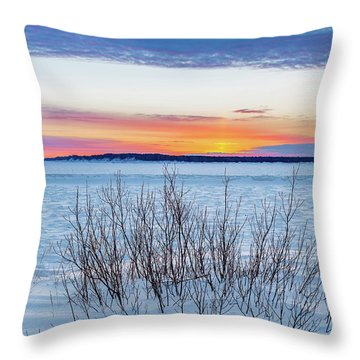 Daybreak Over East Bay Throw Pillow