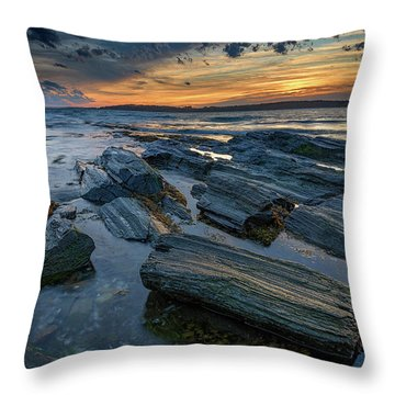 Day's End In Kettle Cove Throw Pillow