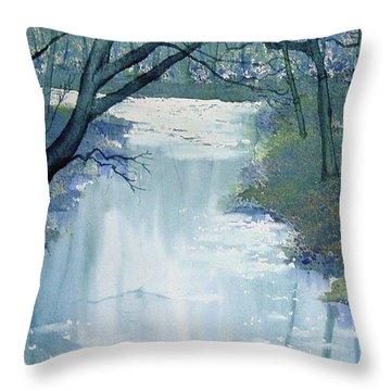 Dazzle On The Derwent Throw Pillow
