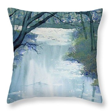 Dazzle On The Derwent Throw Pillow