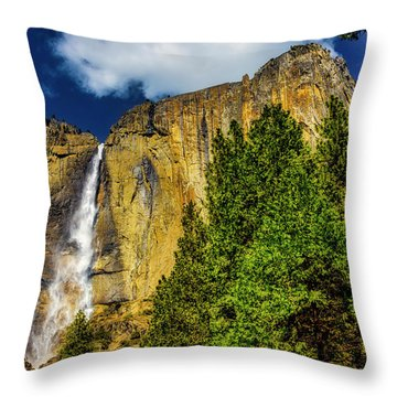 Dazzling Yosemite Falls Throw Pillow