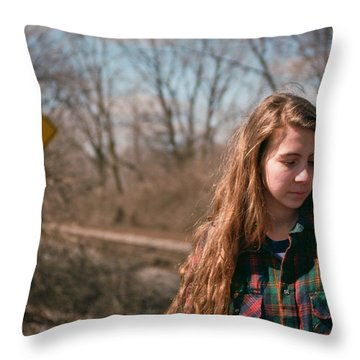 Throw Pillow featuring the photograph Dead End by Carl Young