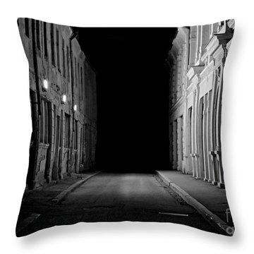 Deadend Alley Throw Pillow