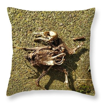 Death Shows Us We Are Nothing But Bones Throw Pillow