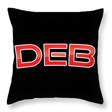 Throw Pillow featuring the digital art Deb by TintoDesigns