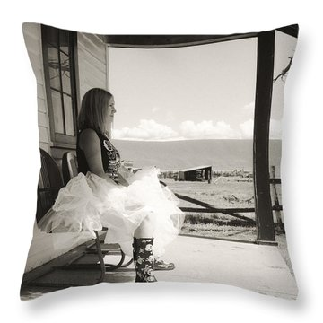 Throw Pillow featuring the photograph Debutante by Carl Young