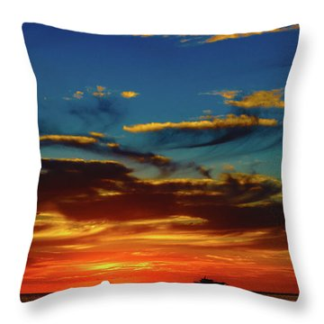 December 17 Sunset Throw Pillow