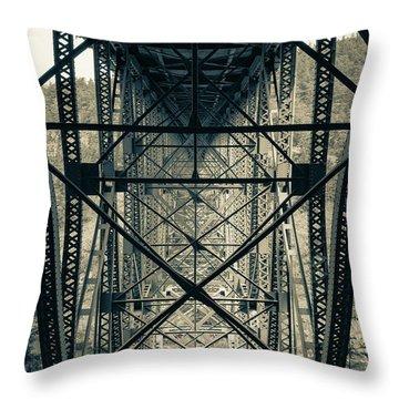 Deception Pass Bridge Throw Pillow