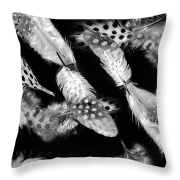 Decorated In Black And White Throw Pillow