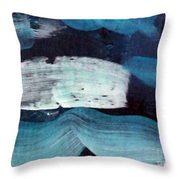 Deep Blue #3 Throw Pillow