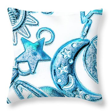Deep Blue Space Throw Pillow