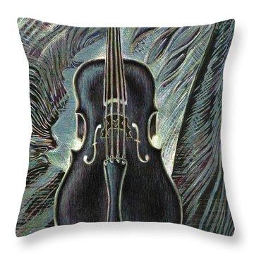 Deep Cello Throw Pillow