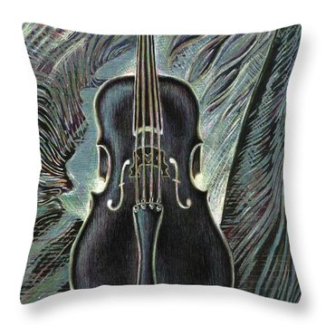 Deep Cello Throw Pillow