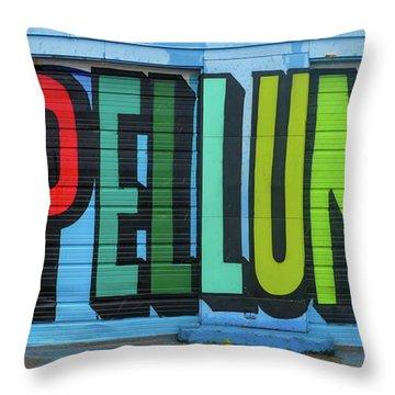 Deep Ellum Wall Art Throw Pillow