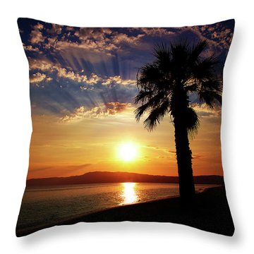 Throw Pillow featuring the photograph Deep Serene  by Milena Ilieva