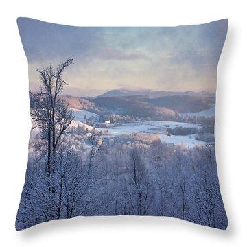 Deer Valley Winter View Throw Pillow
