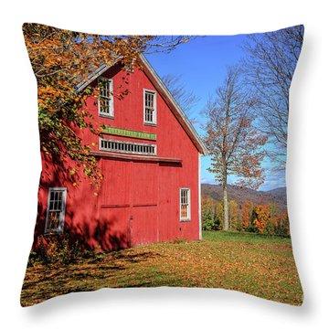 Deerefield Farm Grafton New Hampshire Throw Pillow