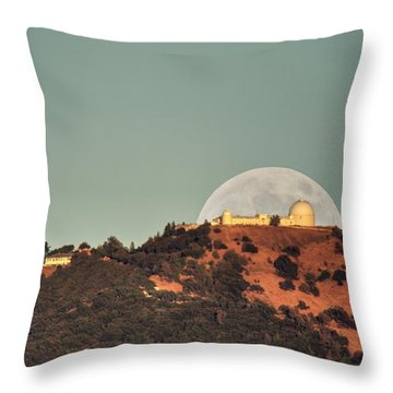 Throw Pillow featuring the photograph Deflector Shield Over Lick Observatory by Quality HDR Photography
