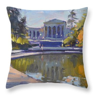Delaware Park Buffalo Throw Pillow