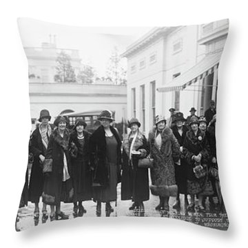 Delegation Of Working Women Throw Pillow