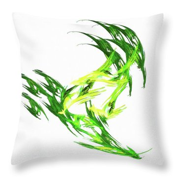 Deluxe Throwing Star Green Throw Pillow