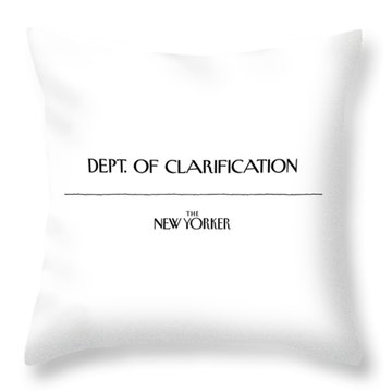 Department Of Clarification Throw Pillow