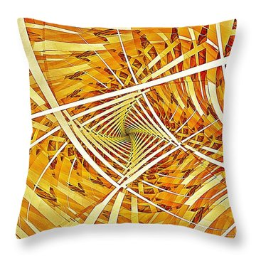 Descent Into Yello Throw Pillow