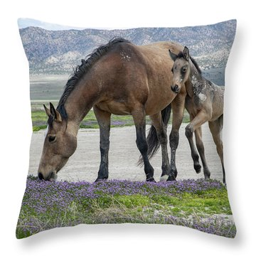 Desert Flowers Throw Pillow