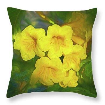 Throw Pillow featuring the mixed media Desert Gold 8  by Lynda Lehmann