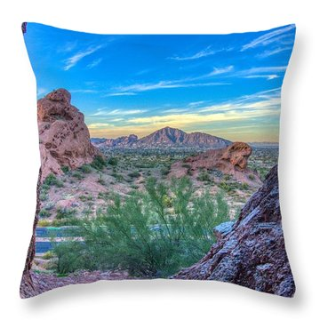 Desert Paradise  Throw Pillow