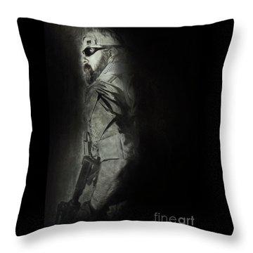 Throw Pillow featuring the photograph Desert Rat by Brad Allen Fine Art