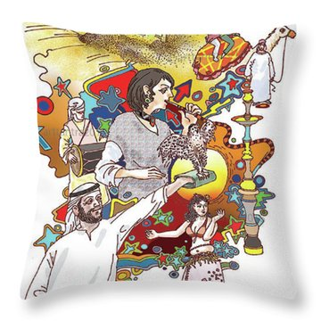 Desert Safari  Throw Pillow