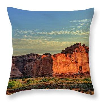 Desert Sunrise In Color Throw Pillow