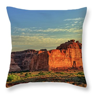 Desert Sunrise In Color Throw Pillow