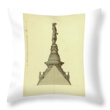 Design For City Hall Tower Throw Pillow