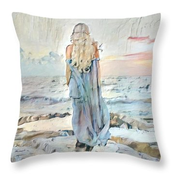 Desolate Or Contemplative Throw Pillow