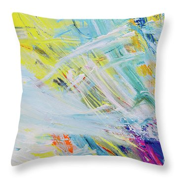 Detail Of Brush Strokes Of Random Colors To Use As Background An Throw Pillow