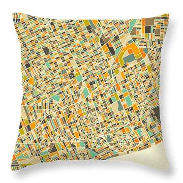Detroit Map 1 Throw Pillow