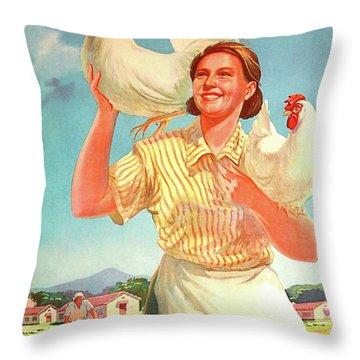 Develop Your Chicken Farm Throw Pillow