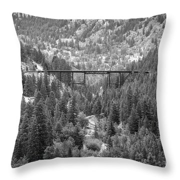 Throw Pillow featuring the photograph Devils Gate In Black And White by Jon Burch Photography
