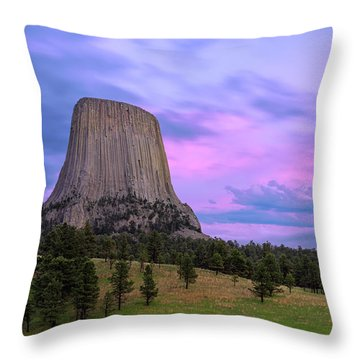 Devil's Tower Throw Pillow