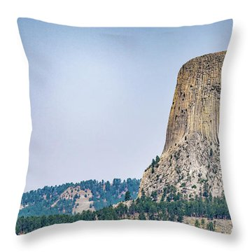 Throw Pillow featuring the photograph Devils Tower by Dheeraj Mutha