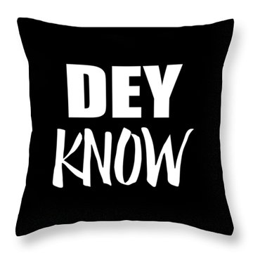 Throw Pillow featuring the digital art Dey Know by Flippin Sweet Gear
