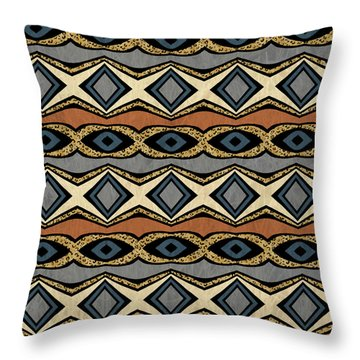 Diamond And Eye Motif With Leopard Accent Throw Pillow