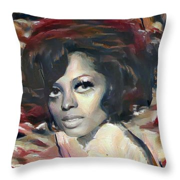 Diana Ross Throw Pillow