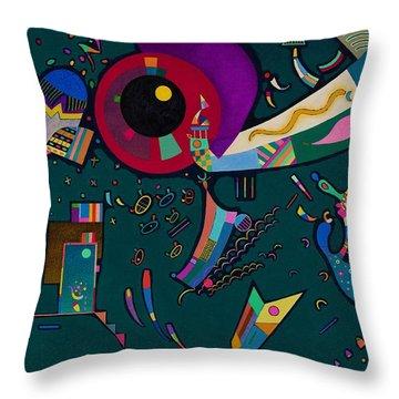 Digital Remastered Edition - Around Circle Throw Pillow