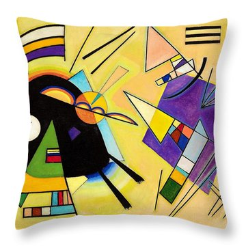 Digital Remastered Edition - Black And Purple Throw Pillow