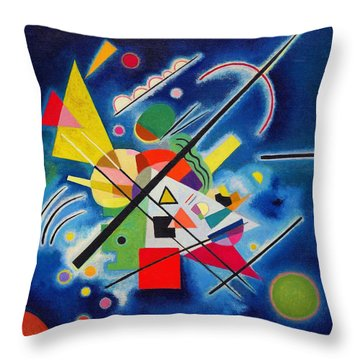 Digital Remastered Edition - Blue Painting Throw Pillow