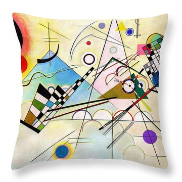 Digital Remastered Edition - Composition Viii Throw Pillow